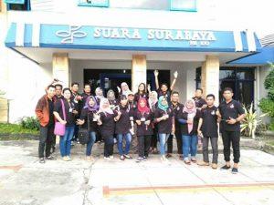 Anggota FRB kunjungi di Suara Surabaya